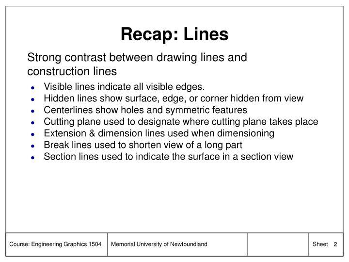Recap lines