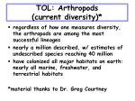 tol arthropods current diversity