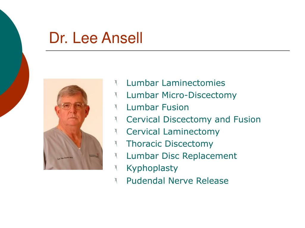 Dr. Lee Ansell