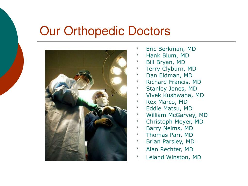 Our Orthopedic Doctors
