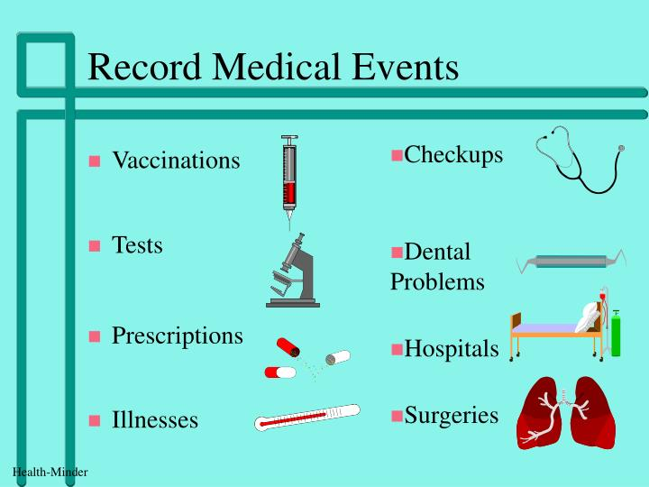 Record medical events