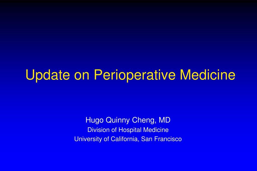 update on perioperative medicine l.