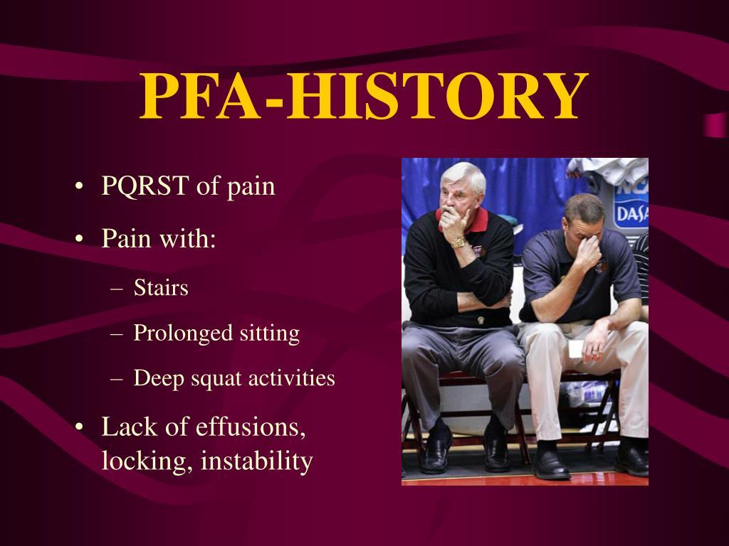 PFA-HISTORY