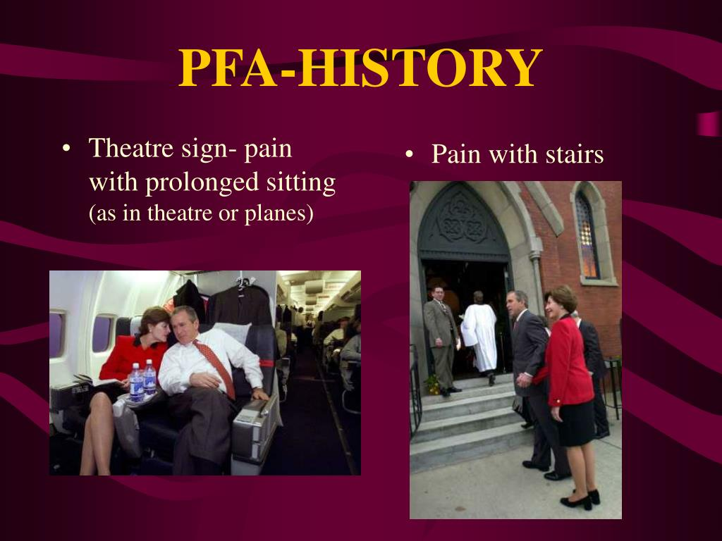 Theatre sign- pain with prolonged sitting