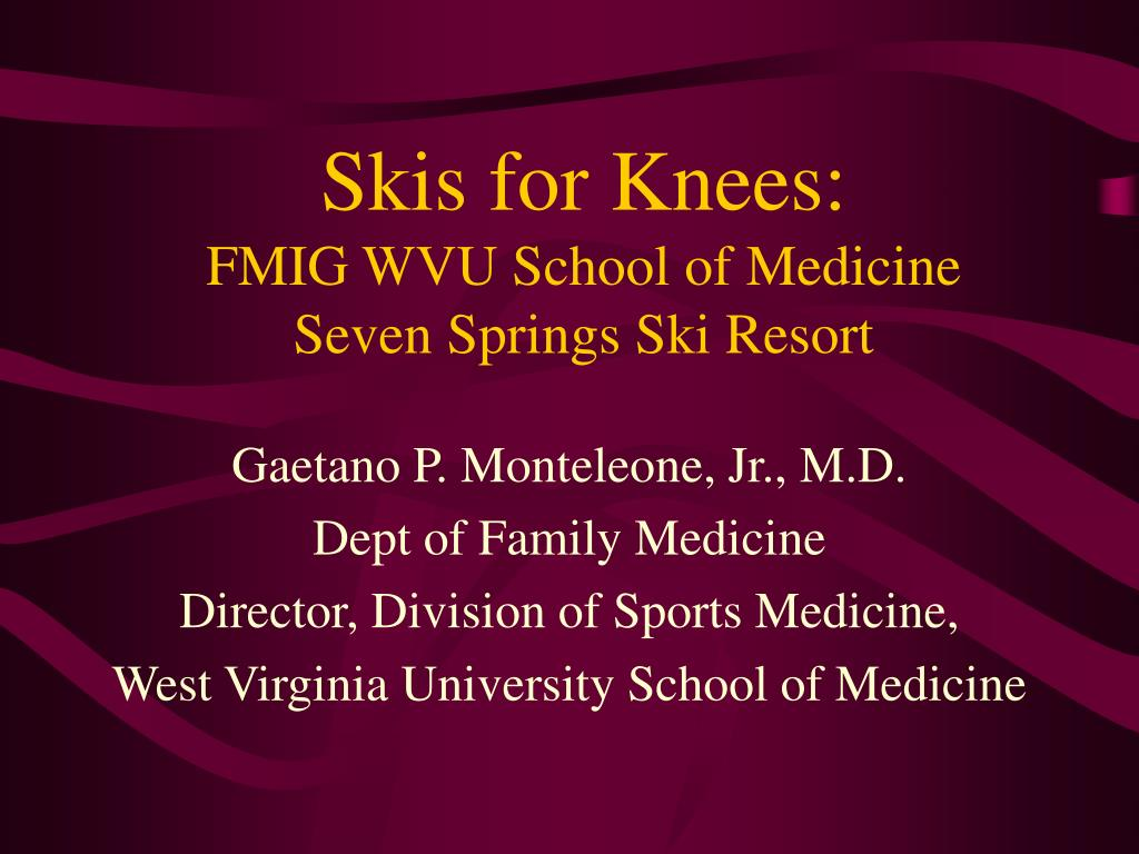 Skis for Knees: