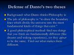 defense of danto s two theses