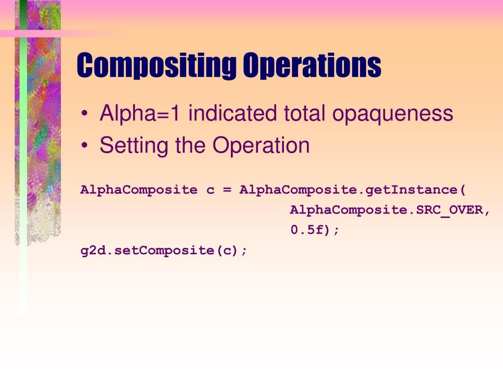Compositing Operations