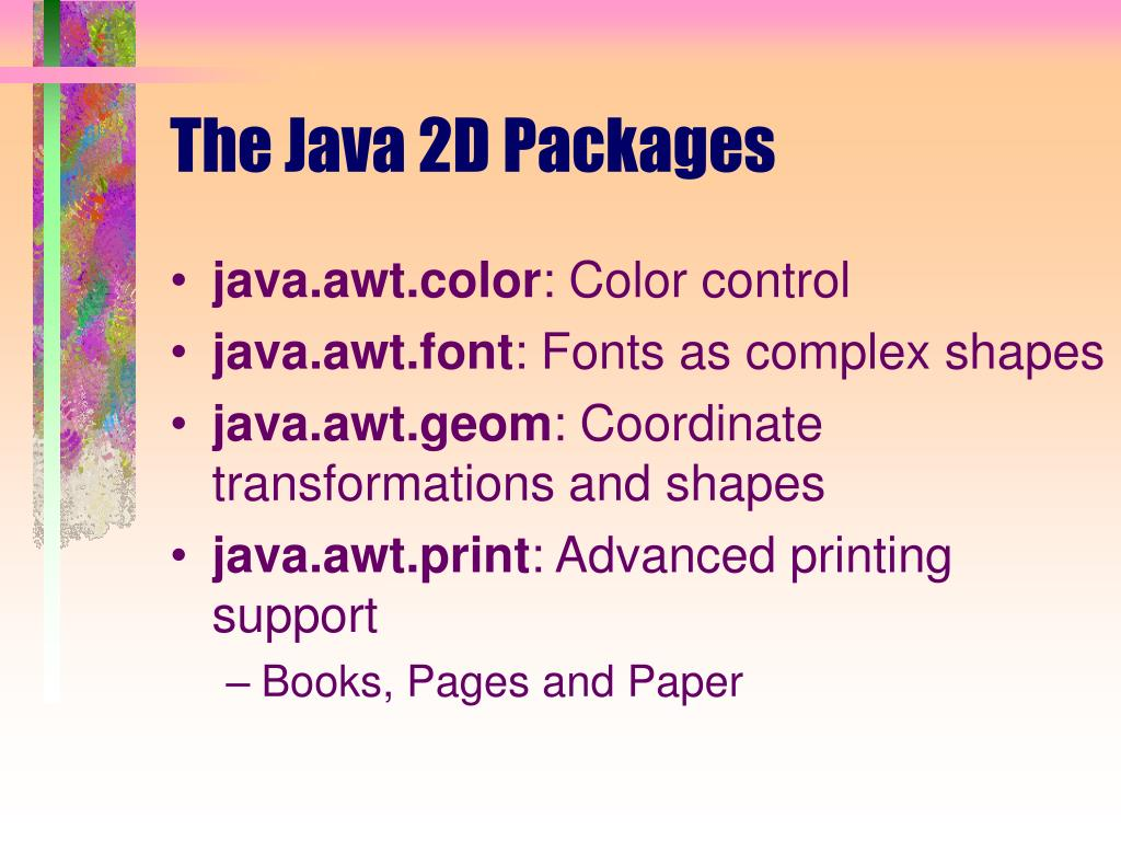The Java 2D Packages