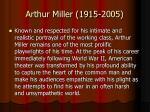 arthur miller 1915 2005