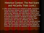 historical context the red scare and mccarthy trials cont11