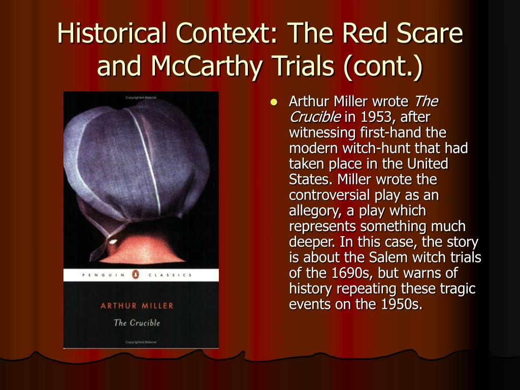 repeating of history according to salem witch trials and mccarthy hearings