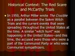 historical context the red scare and mccarthy trials