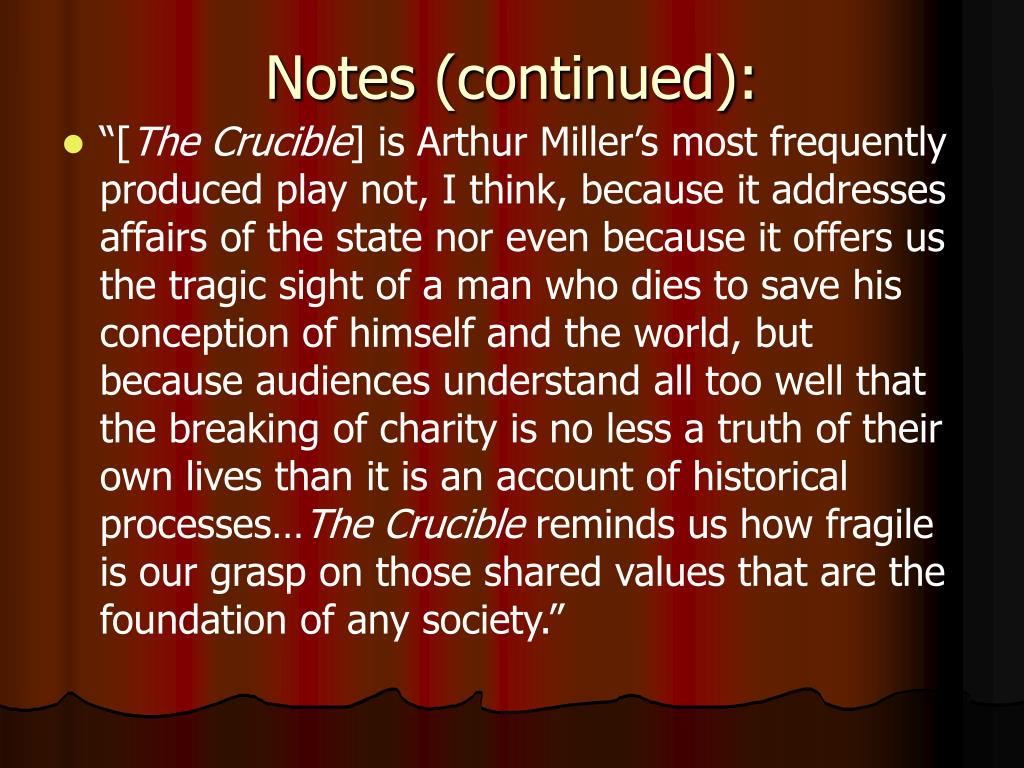 the true meaning of tragedy the crucible by arthur miller
