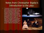notes from christopher bigsby s introduction to the play