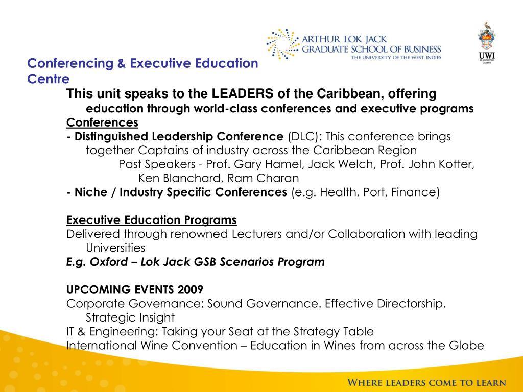 Conferencing & Executive Education