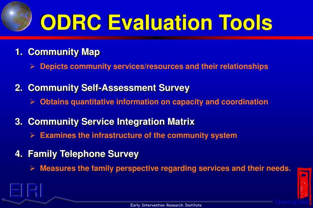 ODRC Evaluation Tools
