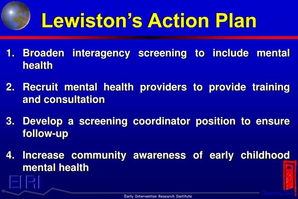 Lewiston's Action Plan