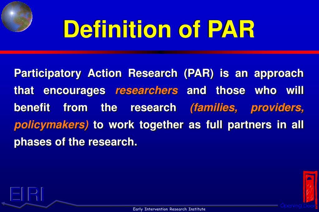Definition of PAR