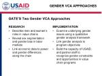 gate s two gender vca approaches