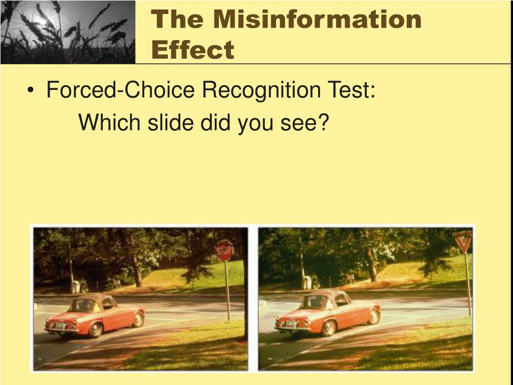The Misinformation Effect