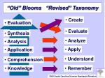 old blooms revised taxonomy