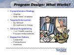 program design what works