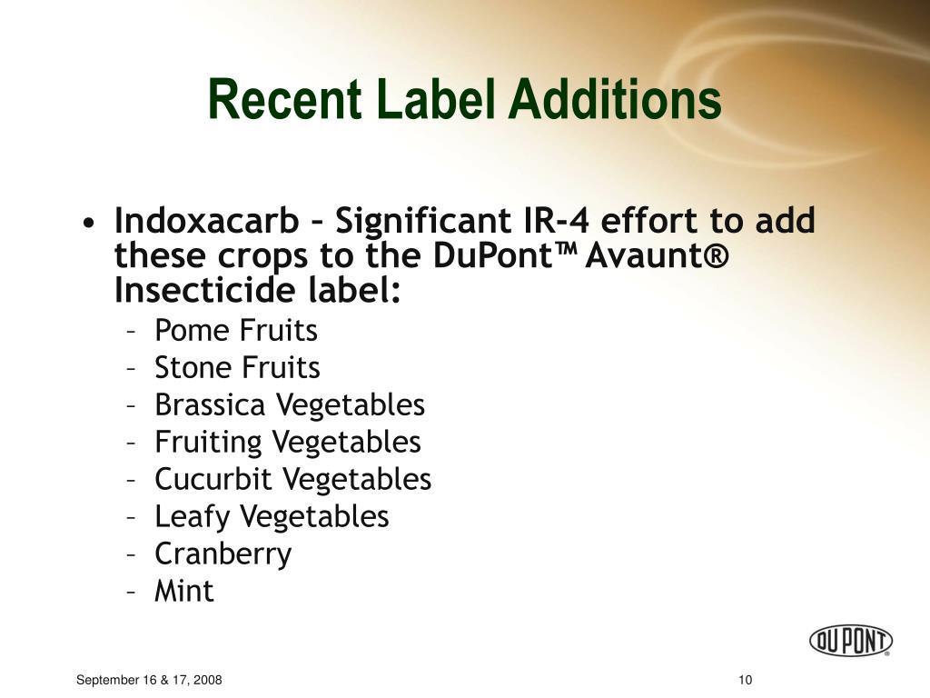 Recent Label Additions
