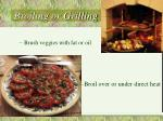 broiling or grilling