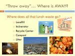 throw away where is away