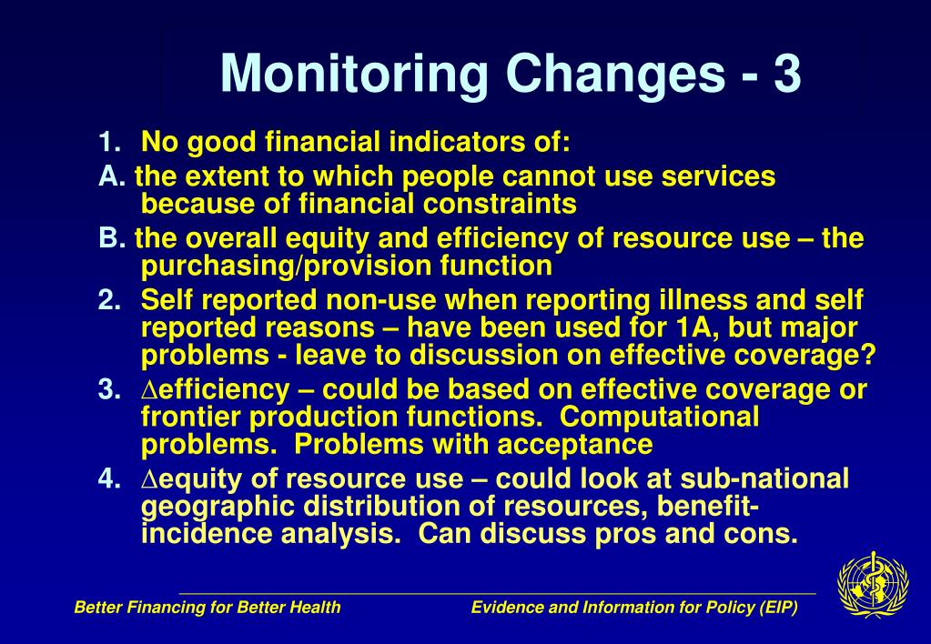 Monitoring Changes - 3