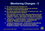 monitoring changes 3
