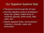 our digestive systems role