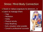 stress mind body connection
