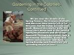 gardening in the colonies continued6