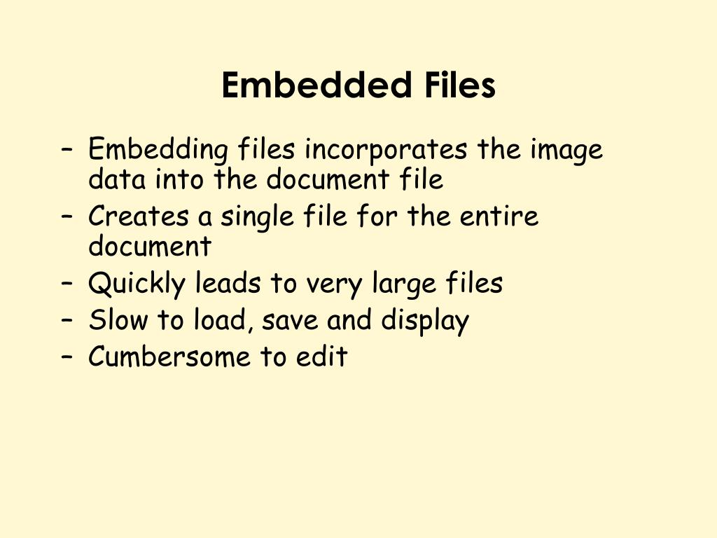 Embedded Files