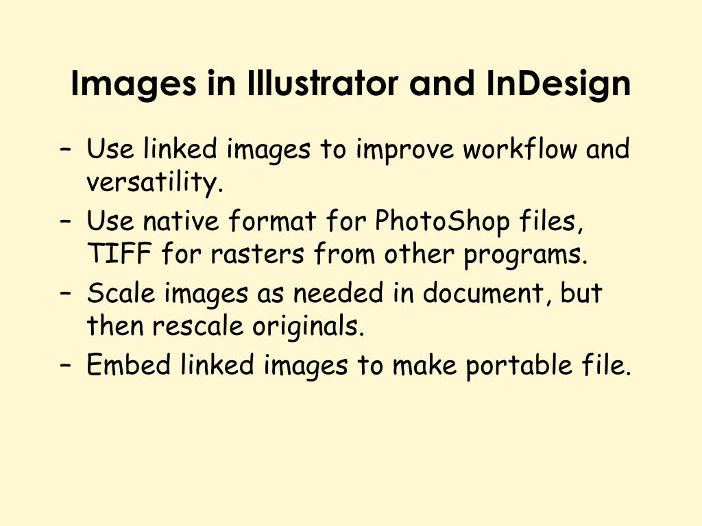 Images in Illustrator and InDesign
