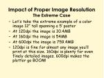 impact of proper image resolution the extreme case