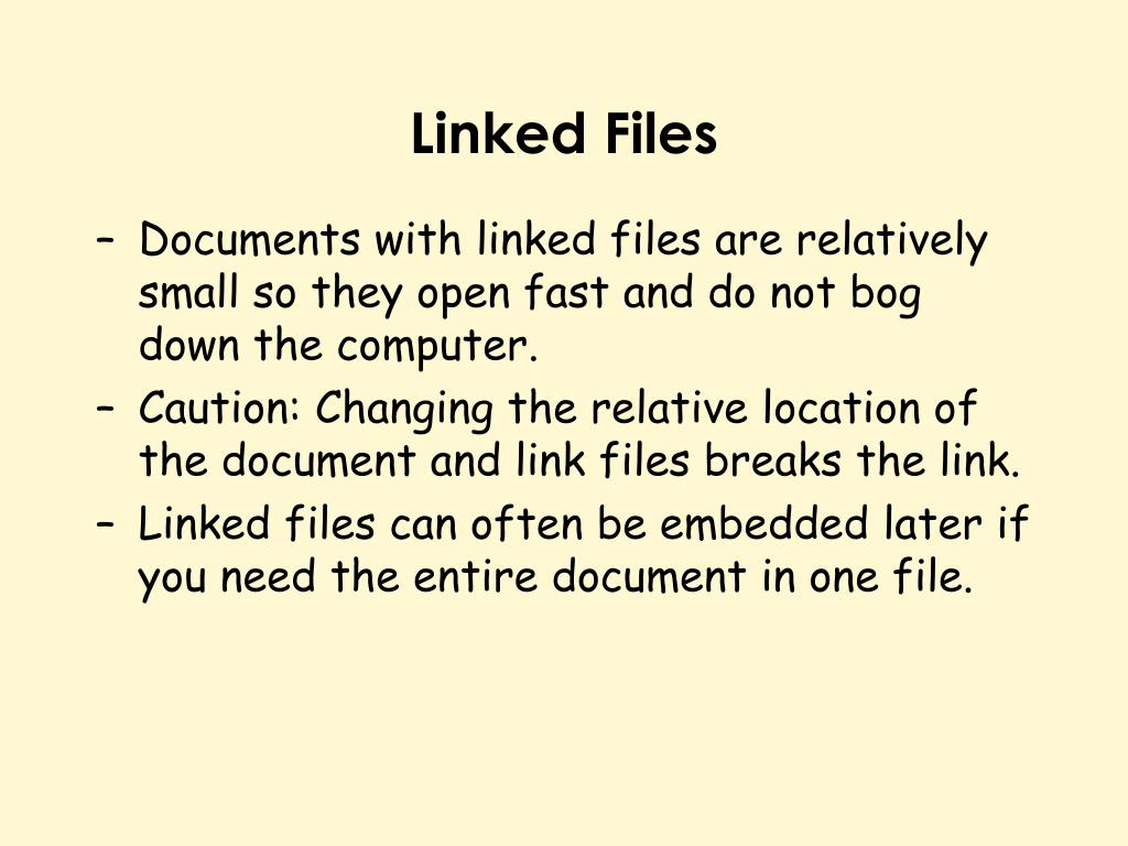 Linked Files