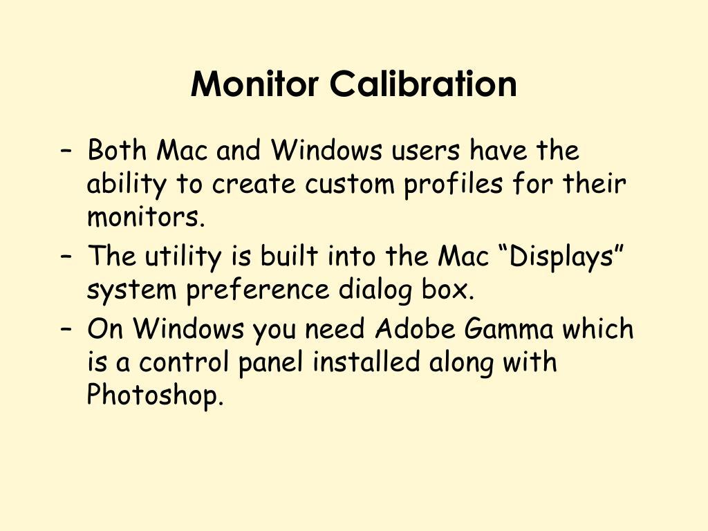 Monitor Calibration