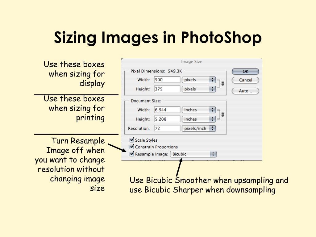 Sizing Images in PhotoShop