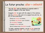 le futur proche aller infinitif