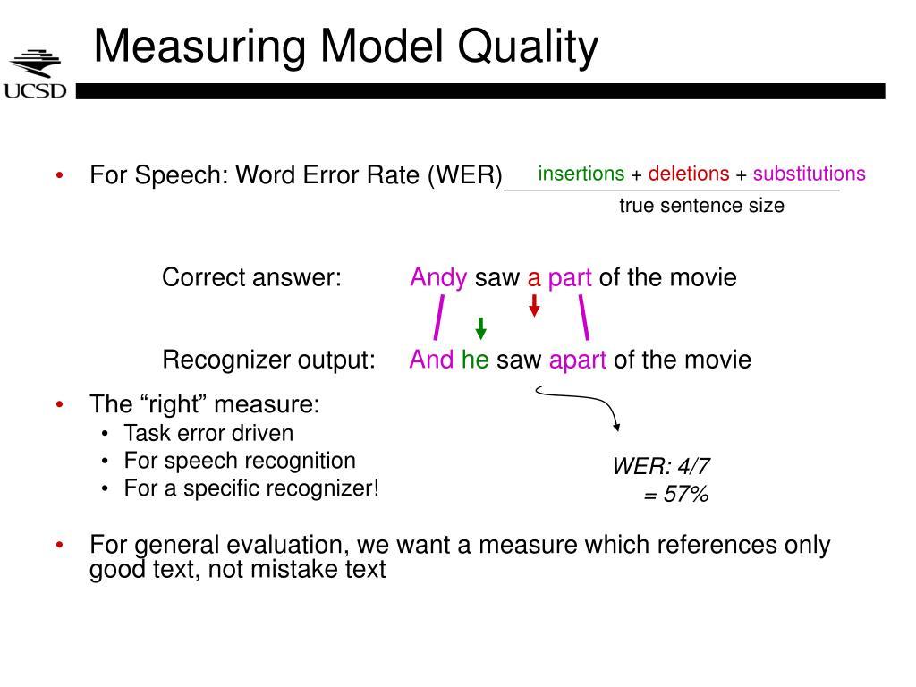 Measuring Model Quality