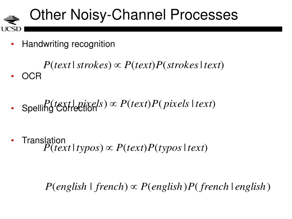 Other Noisy-Channel Processes