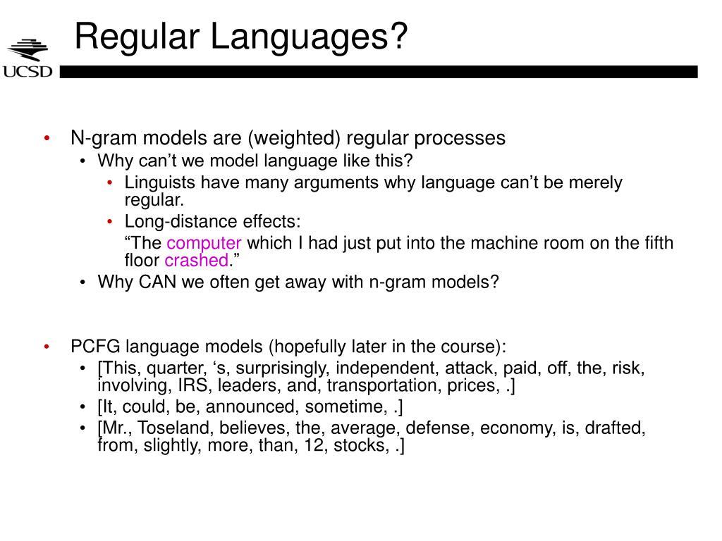 Regular Languages?