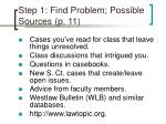 step 1 find problem possible sources p 11