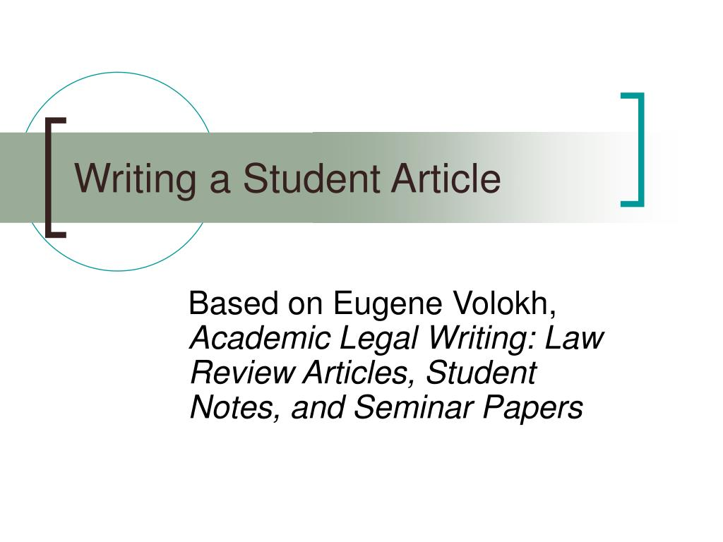 writing a student article l.