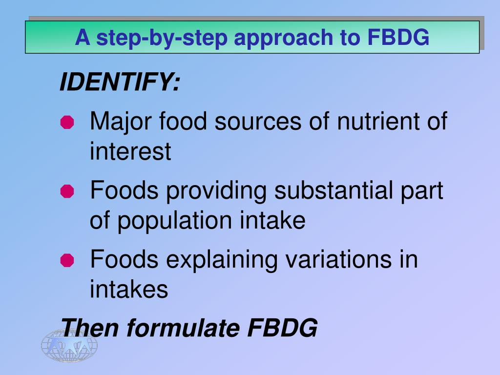 A step-by-step approach to FBDG
