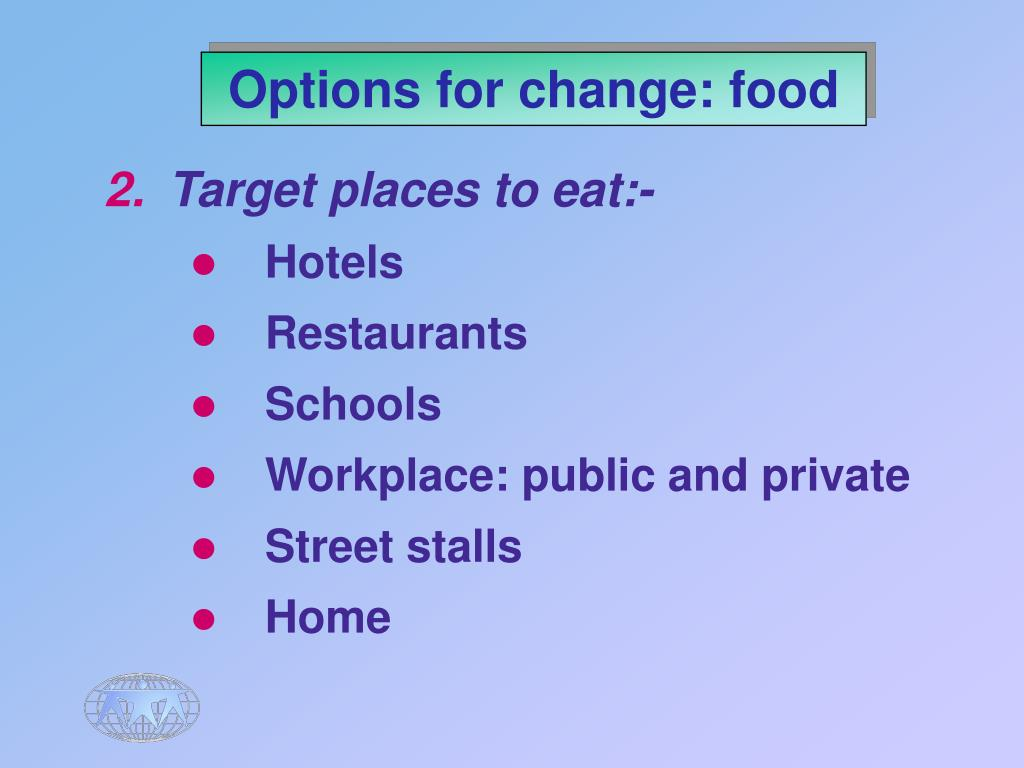 Options for change: food