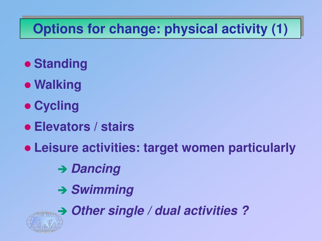 Options for change: physical activity (1)