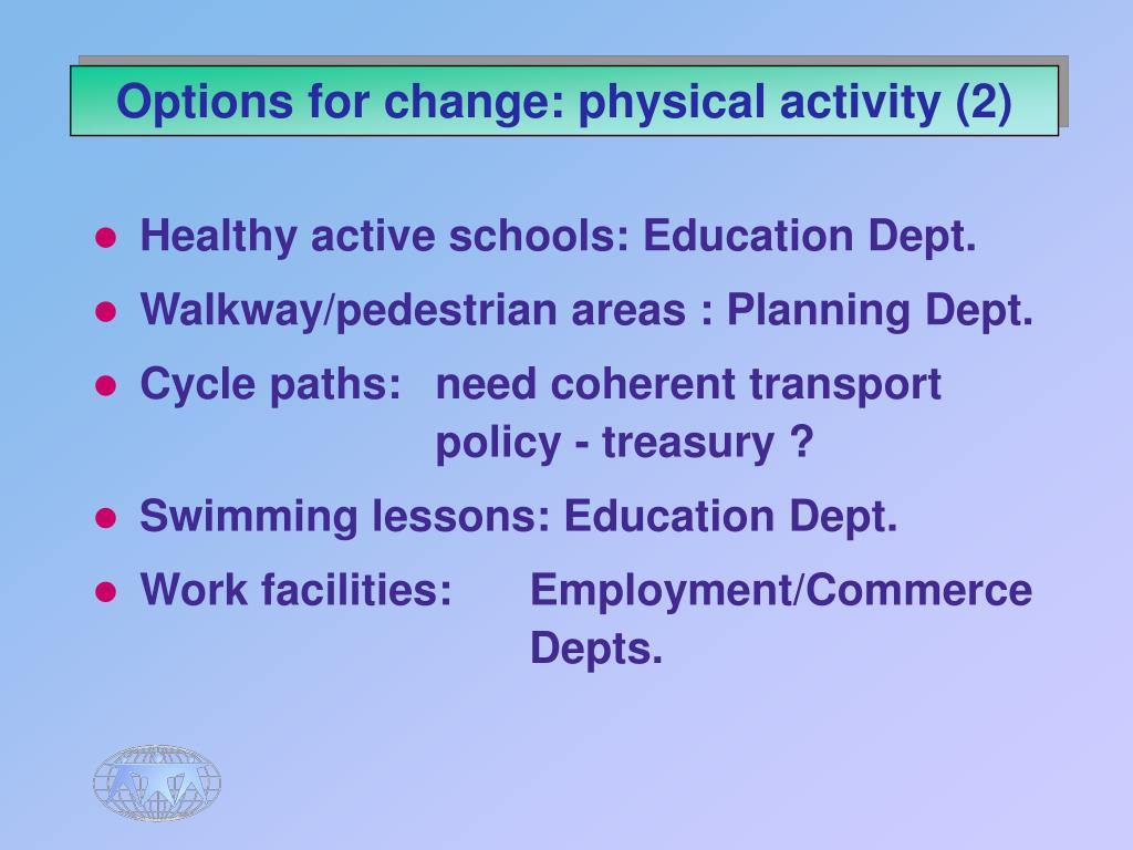 Options for change: physical activity (2)